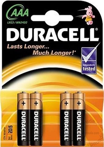 Baterija Duracell, alkalna AAA