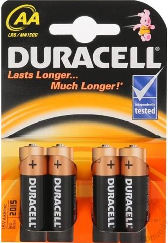 Baterija Duracell, alkalna AA