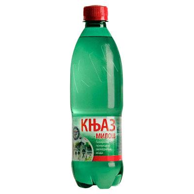Knjaz Miloš voda, gazirana,0,5l