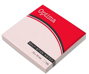 Post it OPTIMA 75x75, crveni ,100 listova