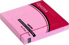 Post it OPTIMA NEON 75x75, roze, 100 listova