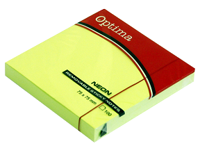 Post it OPTIMA NEON 75x75, zeleni,100 listova